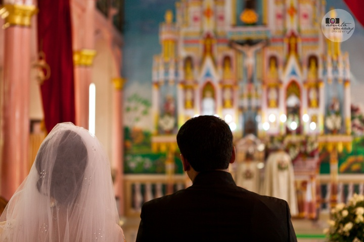 christian wedding in church in kerala
