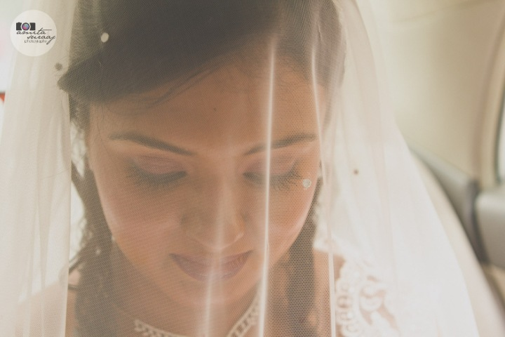 bride at church wedding in delhi