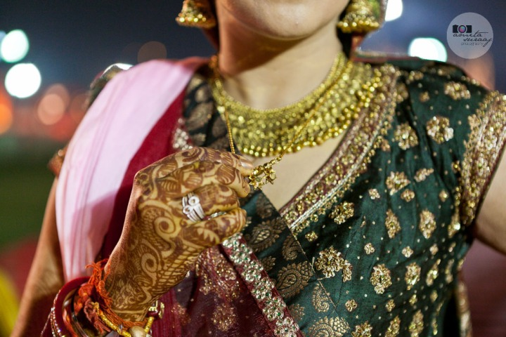 the bride's mangalsutra