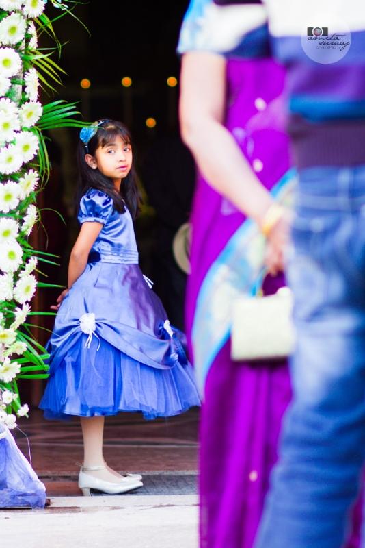 flower girl at church wedding delhi