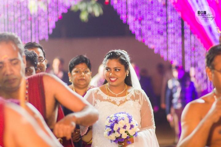bride at the reception