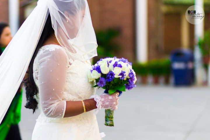 bride at church wedding in delhi india