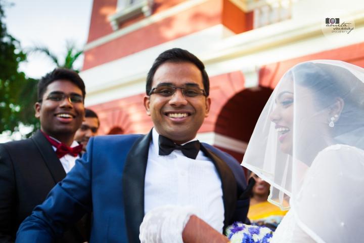groom at church wedding delhi