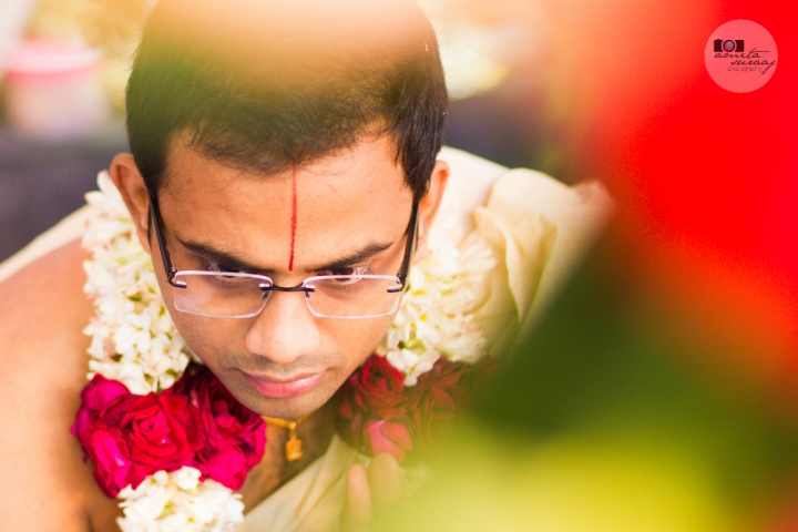 groom at hindu tamil wedding
